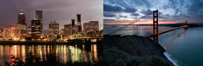 SF and Portland
